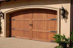 wood carriage house doors image
